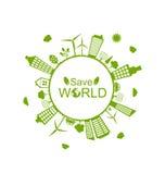 Green Futuristic World Royalty Free Stock Image