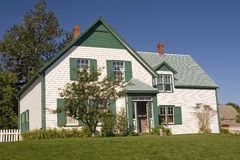 Green Gables. House in the National Park in Cavendish, Prince Edward Island that the author L. M. Montgomery used as a setting for her Anne of Green Gables novel royalty free stock images