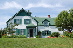 Green Gables. House used as location for Anne of Green Gables novels in Prince Edward Island, Canada royalty free stock images