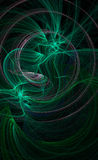 Green galactic background. Green flowing wispy background image Stock Images