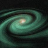 Green galaxy Stock Photos