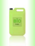 Green Gallon of bio fuel Stock Photos