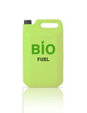 Green Gallon of bio fuel Stock Images