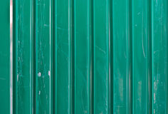Green Galvanized Corrugated Sheet Royalty Free Stock Image