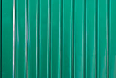 Green Galvanized Corrugated Sheet Royalty Free Stock Photos