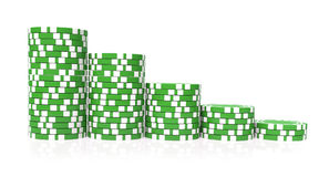 Green gambling Royalty Free Stock Photos