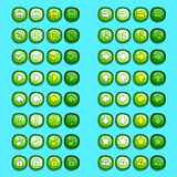 Green game icons buttons icons, interface, ui Stock Photo
