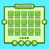 Green game level select icons buttons Stock Image