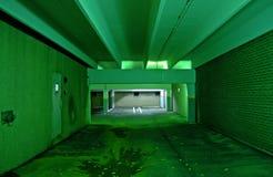Green garage Stock Photo