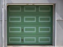 Green garage door Royalty Free Stock Images