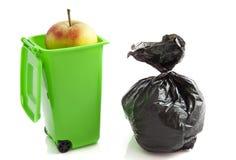 Green garbage bag Royalty Free Stock Photo