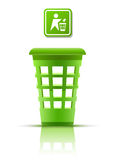 Green garbage basket with indicator Stock Images