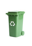 Green garbage bin Royalty Free Stock Images