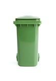 Green garbage bin royalty free stock images