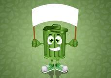 Green garbage bin Stock Photography
