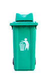Green garbage bin Stock Photography