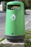 Green garbage container Royalty Free Stock Image