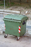 Green Garbage Container Stock Photo