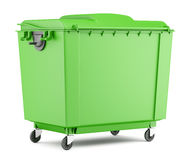 Green garbage container  on white Royalty Free Stock Image
