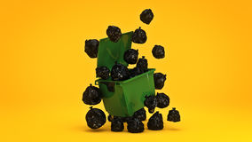 Green garbage containers. Royalty Free Stock Photos