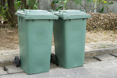 Green garbage Royalty Free Stock Images