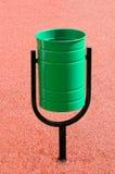 Green garbage urn Royalty Free Stock Photos