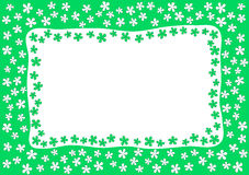Green Garden Border Frame Royalty Free Stock Photo