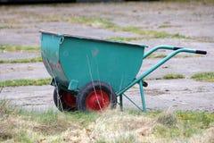 Green garden cart Royalty Free Stock Photo