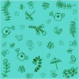 Green garden doodle art Stock Photography