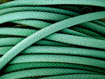 Green garden hose Royalty Free Stock Image