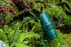 Green garden lamp. Stock Photos