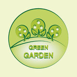 GREEN GARDEN. Logo. Emblem. Label. Royalty Free Stock Photography