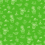 Green garden pattern Royalty Free Stock Photos