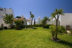Green garden in resort. Green garden in touristic resort Stock Image