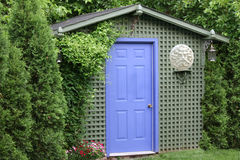 Green Garden Shed Royalty Free Stock Image
