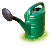 Green garden watering can Stock Photo