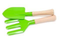 Green gardening tools Stock Image