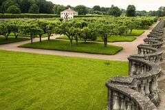 Green gardens of Peterhof, Russia Stock Images