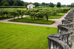 Green gardens of Peterhof, Russia Stock Image