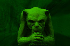 Green gargoyle Royalty Free Stock Image