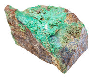 Green Garnierite stone nickel ore isolated Stock Images