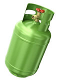 Green gas container Royalty Free Stock Photo
