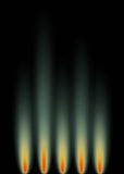 Green Gas Flames. An abstract background in portrait format, representative of gas flames Royalty Free Stock Photos
