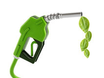 Green gas nozzle with leaves Stock Photos