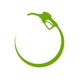 Green gas pump icon Stock Images
