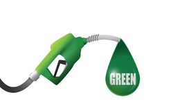 Green gas pump illustration design Stock Image