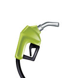 Green gas pump nozzle isolated on white Royalty Free Stock Photography