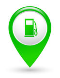 Green gas station pointer Royalty Free Stock Photo