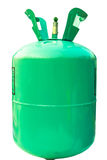 Green gas tank on isolated. Stock Image