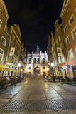 Green Gate at Gdansk main street called Dluga Stock Image